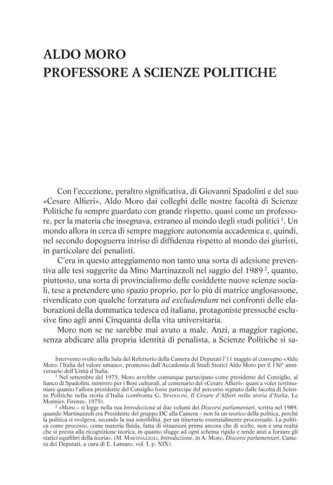 Aldo Moro professore a Scienze Politiche - [Compagna, Luigi] - [Firenze (FI) : Le Monnier, 2011.]