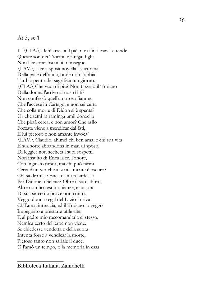 Enea nel Lazio - [Goldoni, Carlo] - [Bologna : Zanichelli, 2011.]