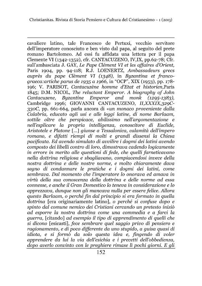 Christianitas : rivista di Storia, Pensiero e Cultura del Cristianesimo : 1, 2013 -  - [Roma : Drengo, 2013.]