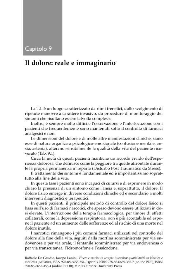 Vivere e morire in terapia intensiva : quotidianità in bioetica e medicina palliativa - [Lanini, Iacopo, De Gaudio, Raffaele] - [Firenze : Firenze University Press : Edifir, 2013.]