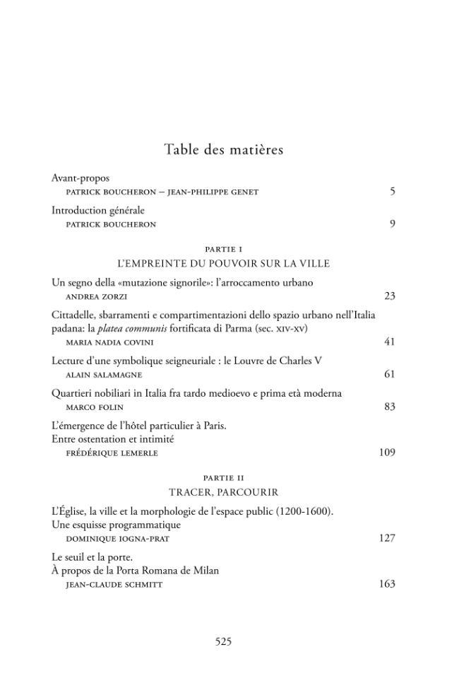 Table des matières. -  - [Rome : École française de Rome, 2014.]