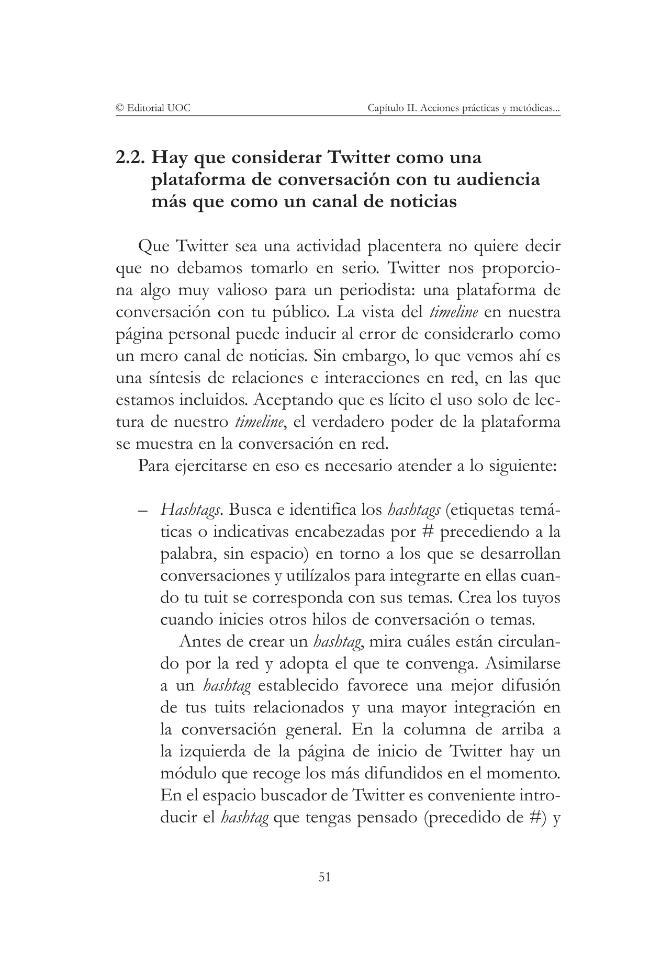 Twitter para periodistas : cómo usar con profesionalidad el microblogging para sacar partido de la red - [Jaraba, Gabriel] - [Barcelona : Editorial UOC, 2015.]