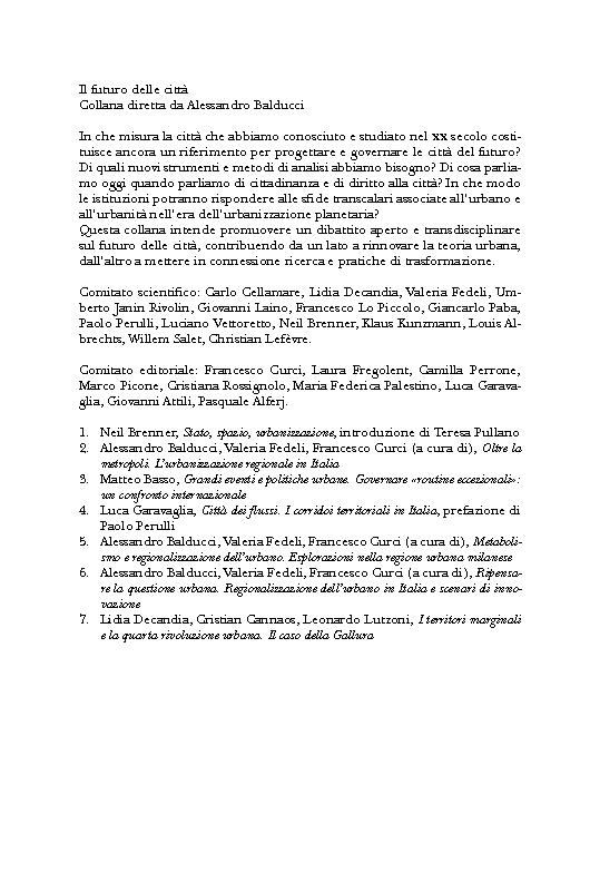 I territori marginali e la quarta rivoluzione urbana : il caso della Gallura - [Lutzoni, Leonardo, Cannaos, Lidia, Decandia, Lidia] - [Milano : Guerini, 2017.]